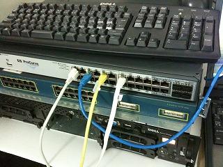 HP ProCurve 2910al-24Gを導入しました。(HP Layer3 Switch)
