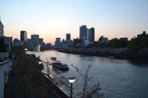 天神橋夜景
